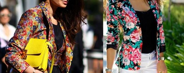 çiçek desenli ceketler