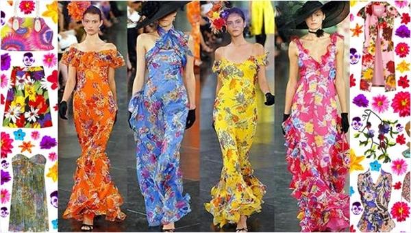 çiçek desenli elbiseler