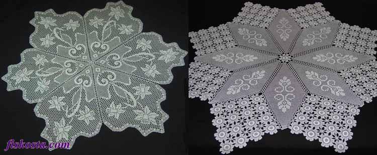 Minik motif dantelleri birleştirebileceğiniz gibi, bütün parçalar halinde de örebilirsiniz.