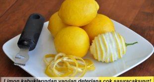 Limon kabuğunun faydaları