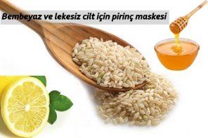 pirinç maskesi nasıl yapılır, pirinç suyu bakımı