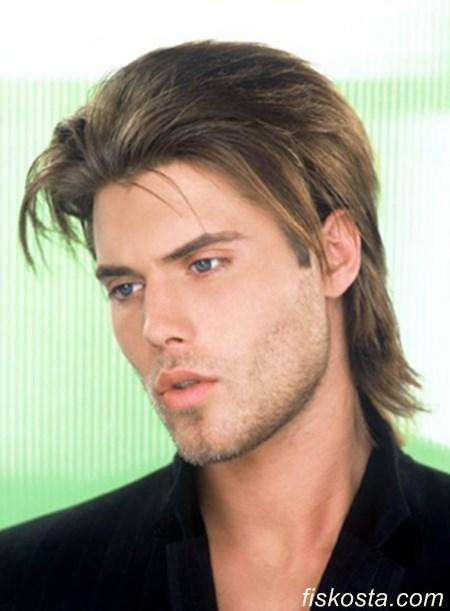 erkek düz saç modelleri uzun
