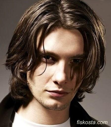 uzun saç modelleri erkek dalgalı