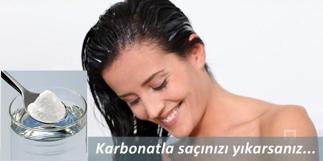 saçları güçlendirmek için karbonatla saç yıkama