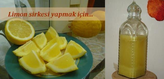 Evde limon sirkesi nasıl yapılır tarifi