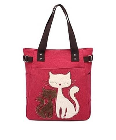 Keçeden kedili çantalar