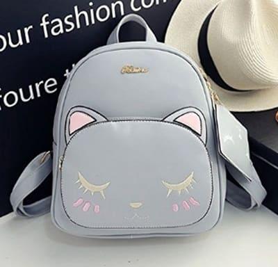 Kedi desenli sırt çantası