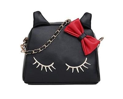 Kedili der çanta siyah