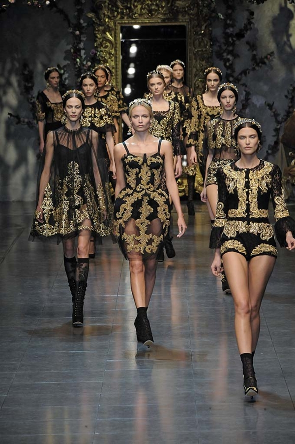 Ready to wear Fall Winter 2012 Dolce e Gabbana Milan February 2012